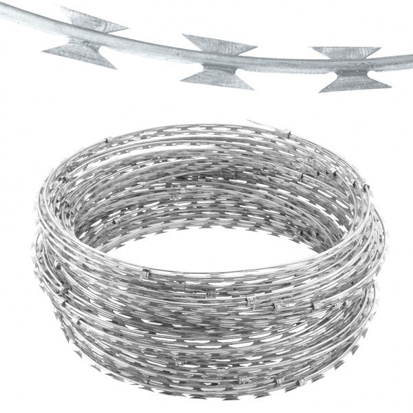 Galvanized Concertina Wire Length Per Roll Galvanized Iron Wire