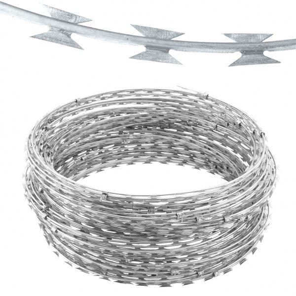 Galvanized Concertina Wire Length Per Roll Galvanized Iron Wire