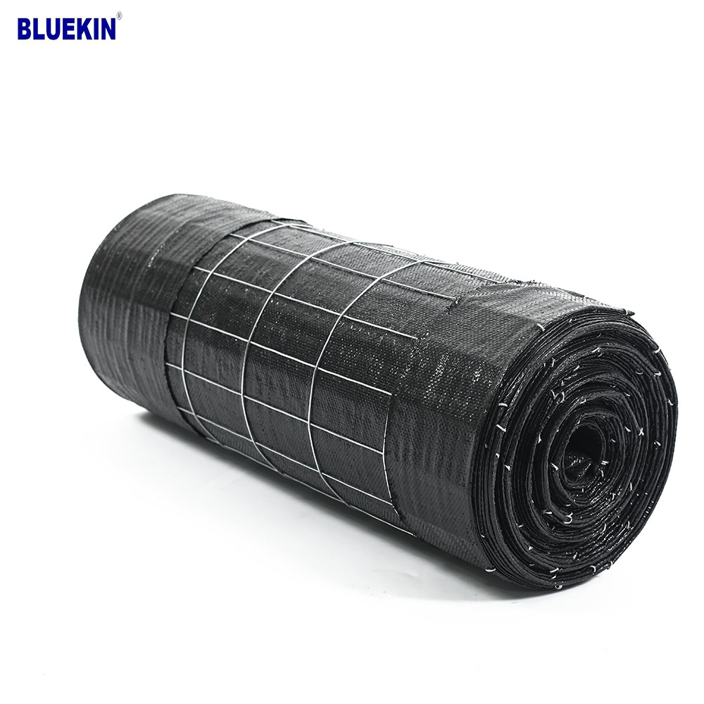 Green And Black PP Woven Fabric Wire Backed Silt Metal Wire Mesh