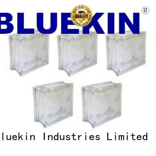 Bluekin single glass block garden