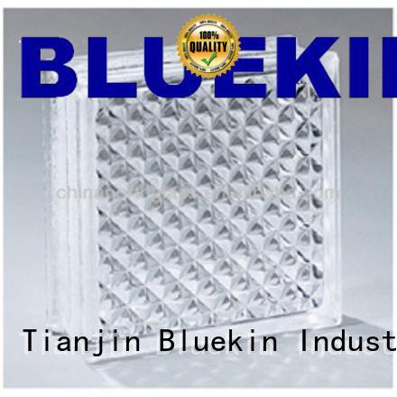 Bluekin pvc quality glass block bulk production factory