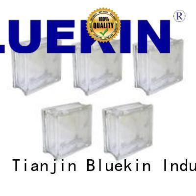 Bluekin modern glass block marketing outdoor