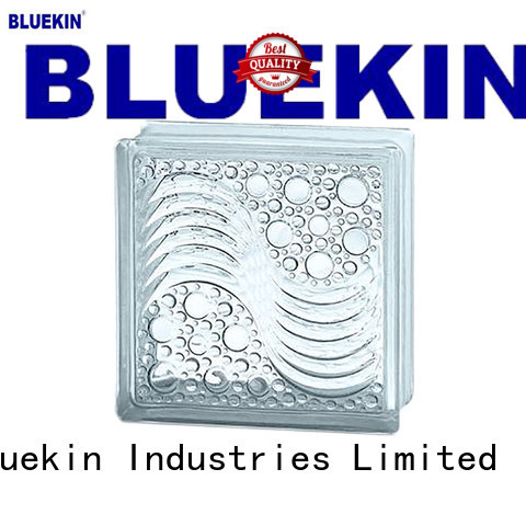 Bluekin pvc quality glass block outdoor