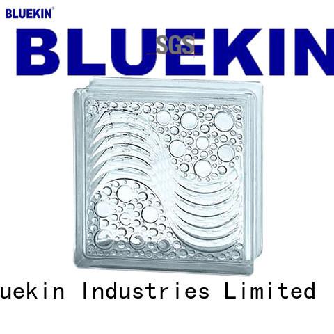 Bluekin custom glass block overseas market outdoor